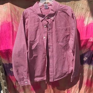 Gymboree red gingham button down shirt